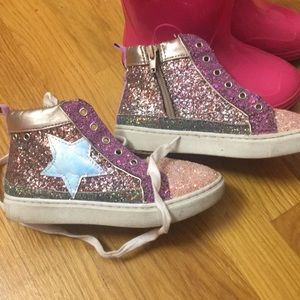 Steve Madden glittery high tops